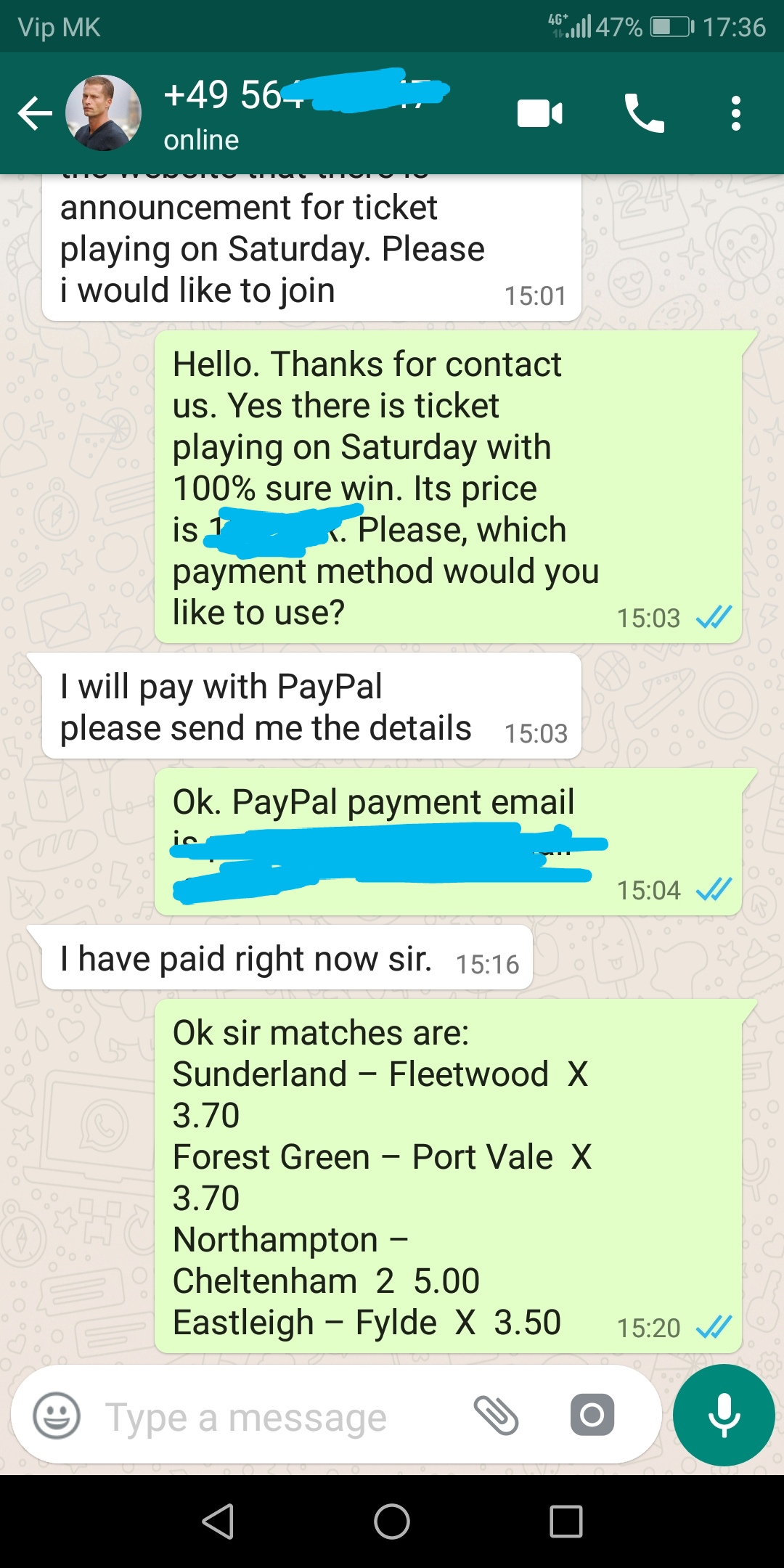 WhatsApp proof ticket 15 09 2018