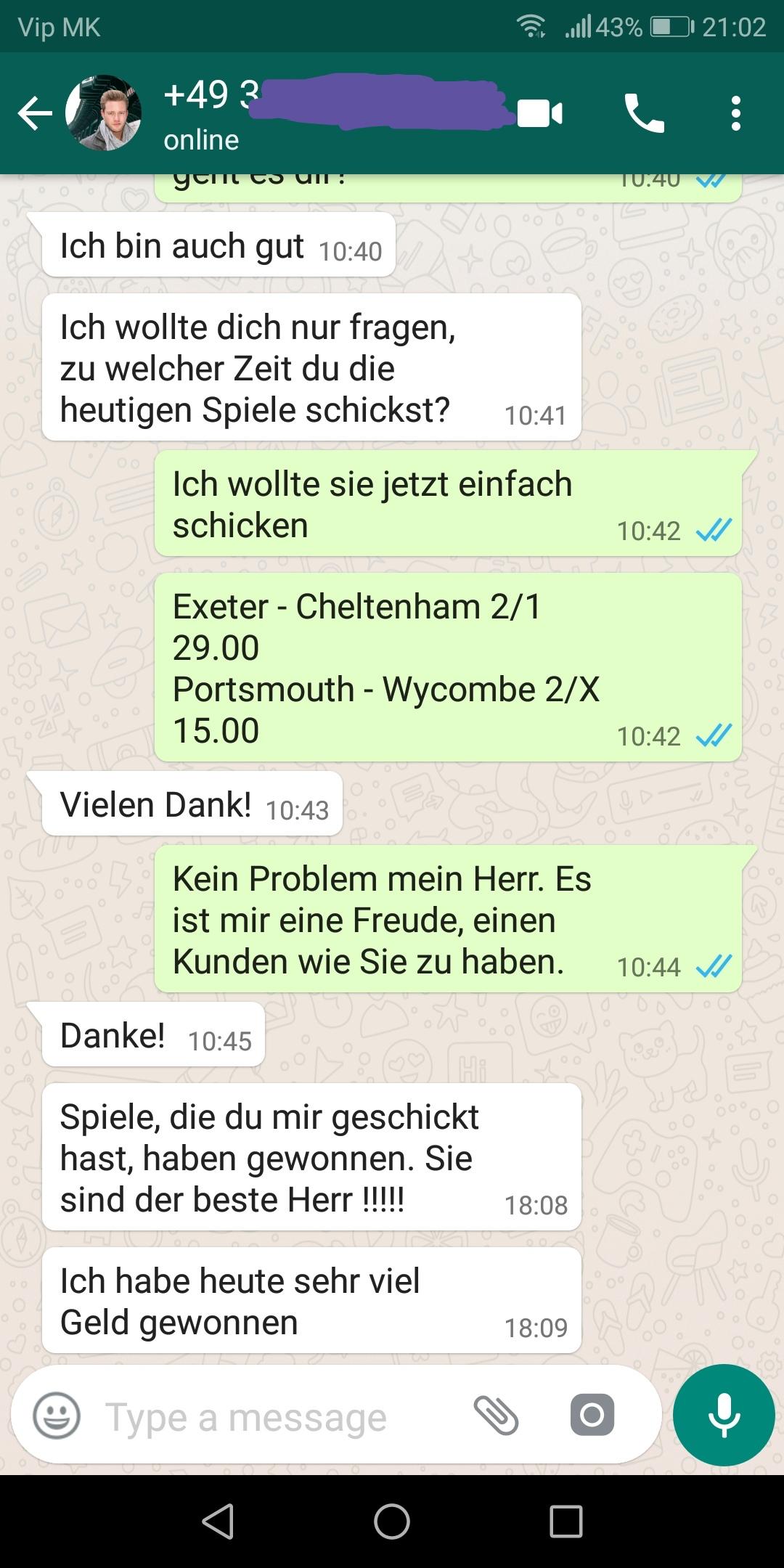 WhatsApp proof ht ft 22 09 2018